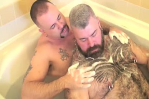 Daddy Bear bonks His Son In The Bathtub