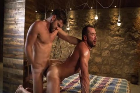 Tattoo homosexual Flip Flop With ejaculation