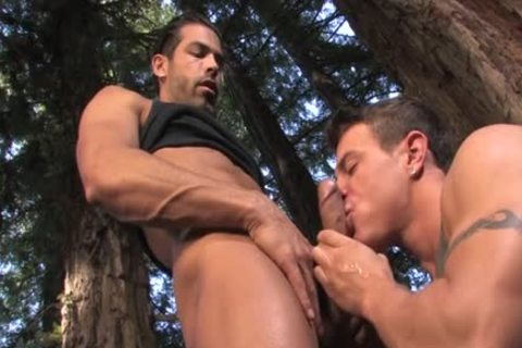 Massive penis bear oral service sex and spunk flow