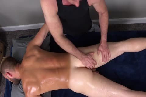 7a hairy Muscle Massage With butt-plug