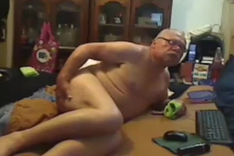 old man cum On web camera