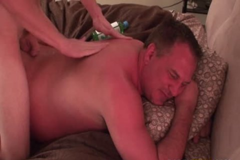 Jacob Massages Daddy & Makes Him cum