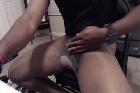 15 Minute jerk off And cum In Sheer Energy pantyhose