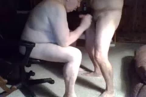 old man suck On webcam
