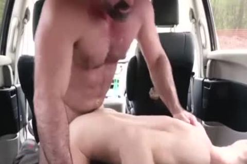 Son Takes gigantic Daddy's pecker In A Family Car - FA