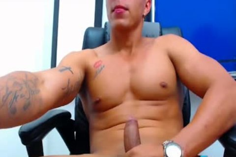 Felipe Borja On Flirt4Free boys - Latino dude's Monster dick discharges A Load