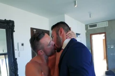 Muscle homo ass job and ejaculation