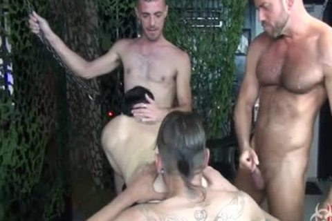 lusty bare Foursome bunch nail