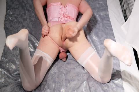 Sissy In Chastity ass Play