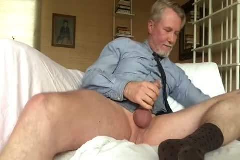 Suited Daddy fake penis Jerkoff