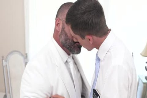 Straight lad Missionary Barebacked By Muscle Bear Priest