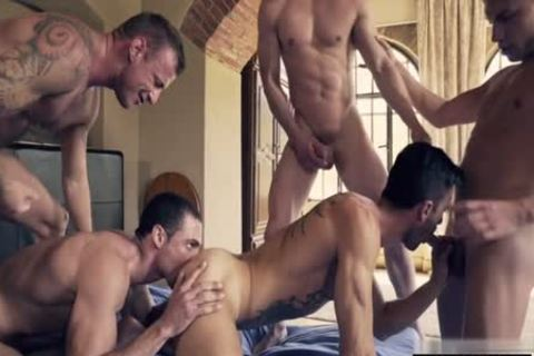 horny homo double penetration With spunk flow