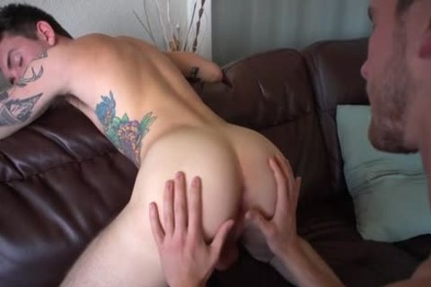 large penis homo anal job With Creampie