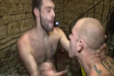 Tattoo homo arse pound and cumshot