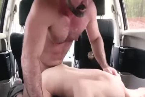 concupiscent Daddy pounds His Step Son In A Car - FAMI
