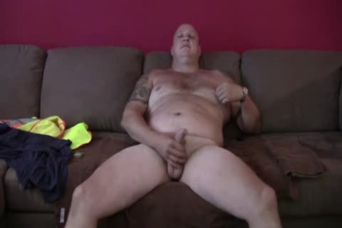 dirty Tattooed fat Construction Worker Solo