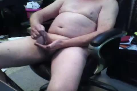older man sperm On web camera
