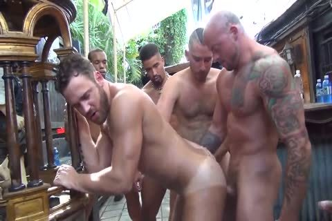 MusclePup Logan Moore receives bunch plowed & Barebacked pound