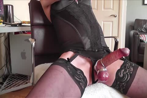 darksome Corset, nylons, metallic Rings And love juice