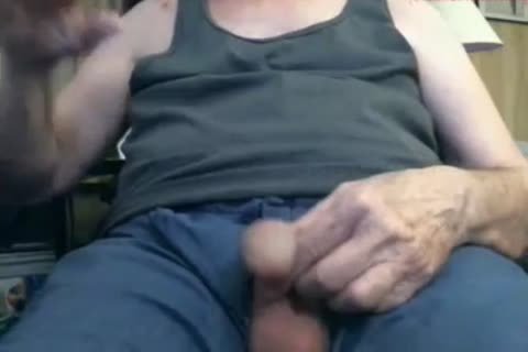older man cum On webcam