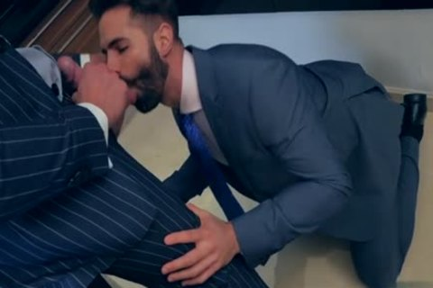 Muscle gay butthole-copulation With Facial