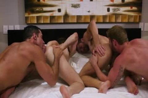 large 10-Pounder Son Foursome And ejaculation