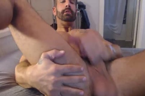 Smooth man stroking
