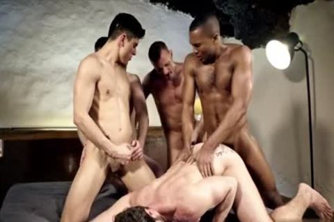 yummy gay double penetration With cumshot