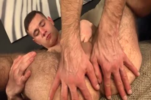 hairy homosexual Gaping And semen flow