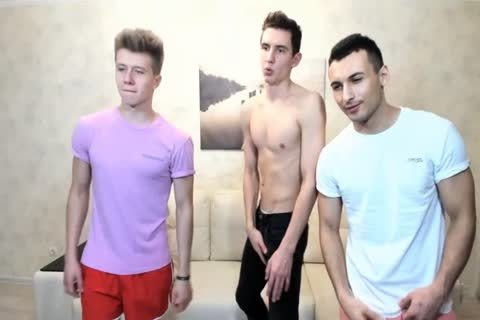 3 Russian handsome twinks With Great Round booties,admirable penises On web camera