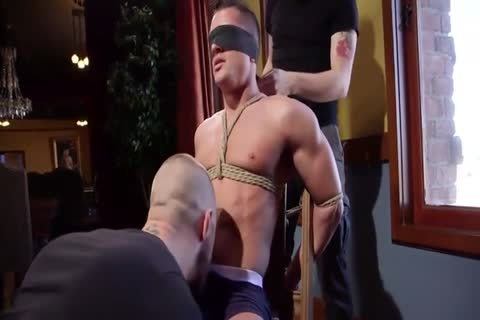 Man tied up and made to cum