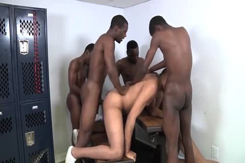 black bare Lockerroom orgy