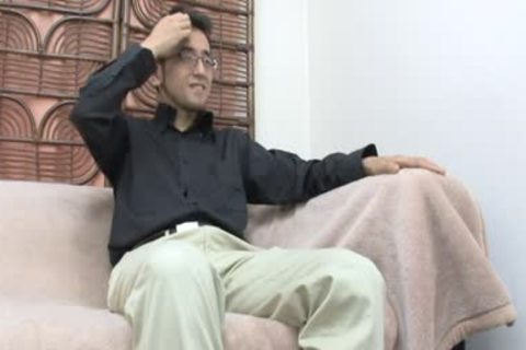 young Jap dad wanking