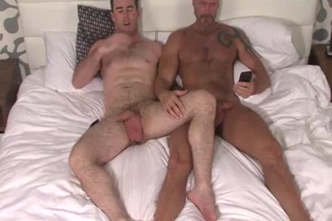 Silver Fox Dallas Steele And Clean Cut pecker Matthew Bosch ball batter jointly