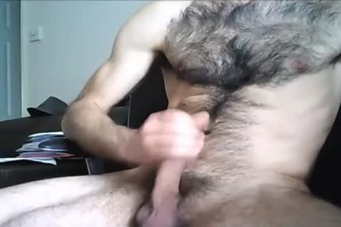bushy Hung dude discharges A big Load