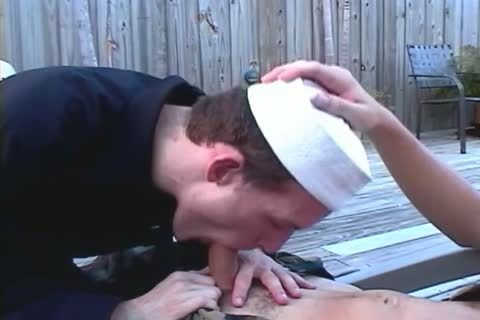 Two young Service males suck Each Other Off