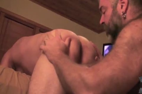 Two homosexual Bears group sex Each Other bareback