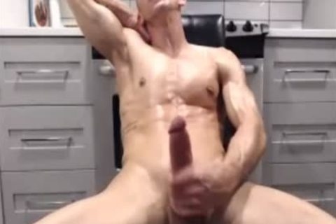 Verbal Daddy Strokes His large penis