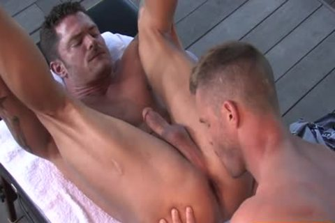 hairy Bodybuilder Outdoor Sex With cumshot