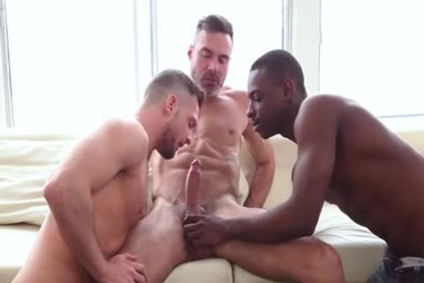 large penis Son three-some With cumshot