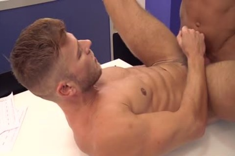 Muscle homo wazoo stab And cumshot