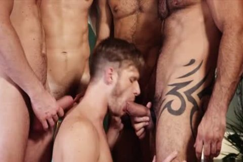 cute homosexual 3some And sperm flow