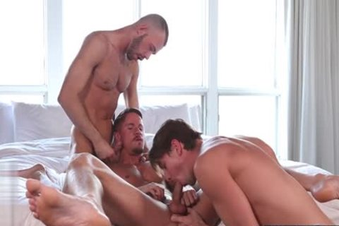 big dick homo trio With Facial