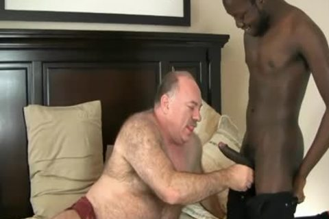 DADDY BEAR ENJOYS WITH darksome cock