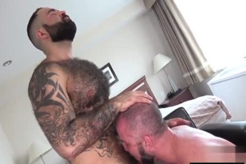 hairy Bear Flip Flop With ejaculation