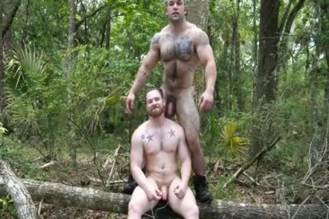 beefy males undress, Jerk & bang