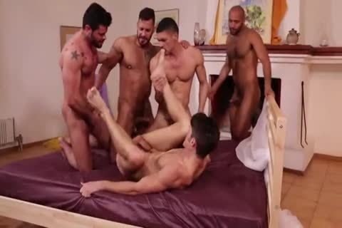 Devin Franco`s bareback bunch group-sex