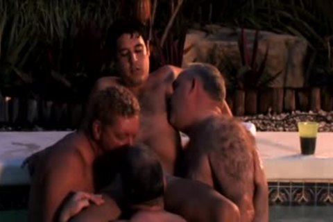 (LOUD) Dads' blowjob-stimulation Pool Party