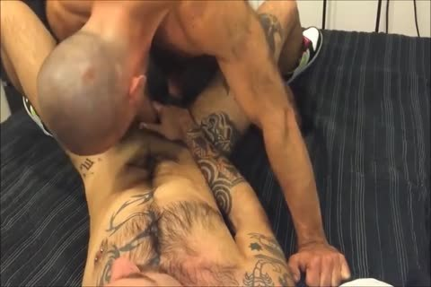 big Ink hairy Bottom