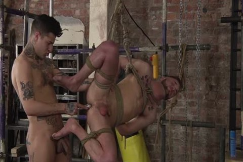 young gay Koby Lewis tied And nailed Hard By Mickey Taylor